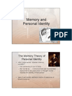 Memory and Personal Identity