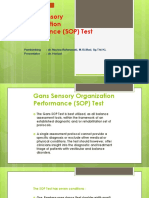 Gans Sensory Organization Performance (SOP) Test