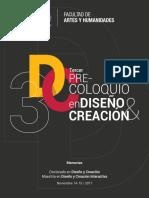 3er Precoloquio en Diseño 2018