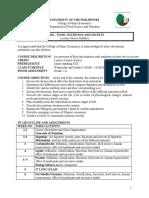 FN 110 Syllabus AY 2018-2019 1st Sem
