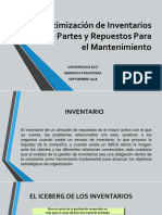 EXPO..Optimización de Inventarios de Partes y Repuestos