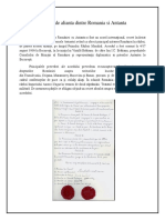 Tratatul dintr Romania si Antanta
