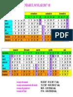 calendar scolar