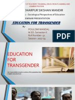 Education for Transgender