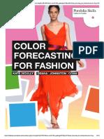 Color Forescasting Fashion
