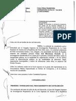 RESOLUCION DE EXTRADICION 156-2018 DE JUEZ CÉSAR HINOSTROZA