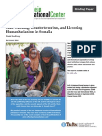 State-building, Counterterrorism, and Licensing Humanitarianism in Somalia