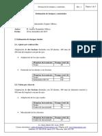 Estimación de Tiempos y Materiales
