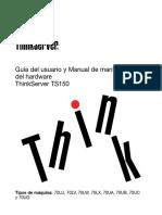 Guía de Usuario Thinkserver TS150
