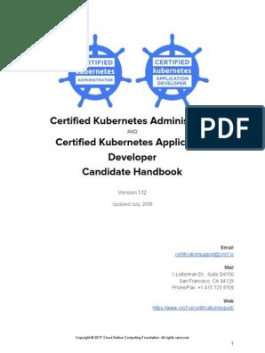CKA CKAD Candidate Handbook July 2018 | Identity Document