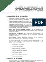 informe de la misión de acompañamiento a 72 activistas saharauis defensores de los derechos humnanos en el trayecto argel aaiun