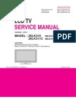 LCD TV LG_26LK310-MA_26LK311C-MA  Chassis LP91J_mfl67082601_1106-rev01