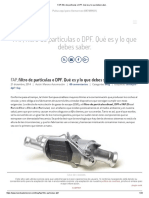 FAP, Filtro de Partículas o DPF. Qué Es y Lo Que Debes Saber