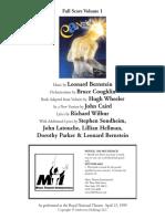 Candide (RNT) - Full Score