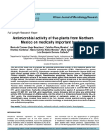 Antimicrobial Activity of Five Plants From Northern Mexico on Medically Important Bacteria