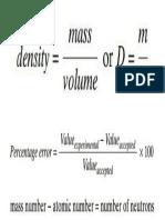 Holt Chemistry Formulas