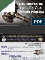 Grupos de Presión y la Opinión Pública