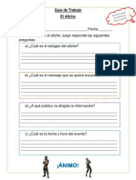 Guía de trabajo El Afiche