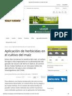 Aplicación de Herbicidas en El Cultivo Del Maíz
