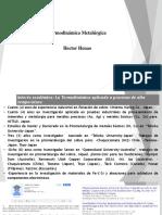 Termodinamica Metalurgica, Sesión 1