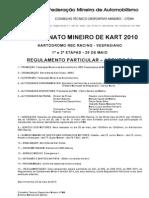 Regulamento Mineiro 2010