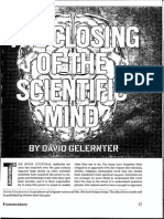 DCH 140100 Mag Commentary David Gelernter The Closing of the Scientific Mind Science Humanitarianism Robotics