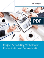 White Paper on Project Scheduling Techniques 1