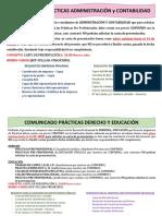 Comunicado Practicas Admistracion%2c Contabilidad%2c Derecho y Educacion.