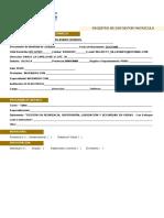 Registro de Datos Matricula Omdec