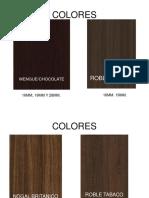 Catalogo Colores Melamina 2017 Actual.