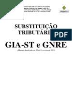 Substituição Tributária - Gia-st e Gnre - Manual - Atualizado Em 2018-02-22