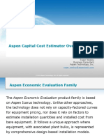 Aspen Capital Cost Estimator Overview