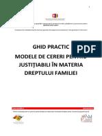 Ghid Justitiabili -Modele de Cereri in Materia Dreptului Familiei
