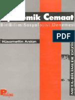 Hüsamettin Arslan - Epistemik Cemaat (Bilim Sosyolojisi).pdf