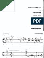 Stockhausen - Klavierstück V