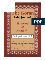 The Koran (al-Qur'an) Testimony of Antichrist