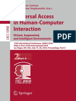 [Lecture Notes in Computer Science 10907] Margherita Antona, Constantine Stephanidis - Universal Access in Human-Computer Interaction. Methods, Technologies, And Users (2018, Springer International Publishing)