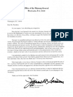 Jeff Sessions Resignation Letter (He was Really Fired)