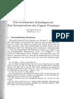 Manthe - Ein Etruskischer Schiedsspruch. Zur Interpretation Des Cippus Perusinus (RIDA 26, 1979)