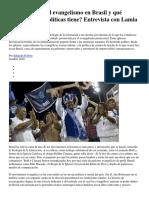 Entrevista Con Lamia Oualalou Por Qué Crece El Evangelismo en Brasil y Qué Consecuencias Políticas Tiene