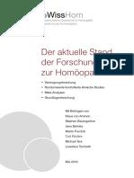 Der Aktuelle Stand Der Forschung Zur Homöopathie 2016 WissHom