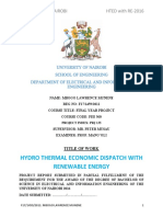 Hydro Thermal Economic Dispatch With Renewable Energy(1)