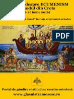 Adevarul Despre ECUMENISM Si Sinodul Din Creta