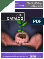 CCNY CPS 2018 Catalog