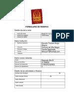 Formulario Colegios de Reserva Safari 2b