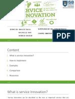 Service Innovation Project