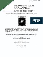 Identificación, Diagnóstico y Remediación de las patologías del pavimento flexible