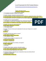 Gabarito Prova Programação Em C# - Fundação Bradesco