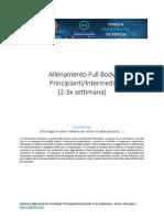 Allenamento Fullbody Principianti e Intermedi 2 3x Settimana