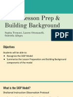 siop lesson prep   building background